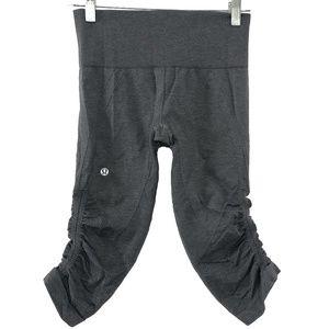 Lululemon Flow & Go Crop Pants Gray Women's Size 4